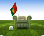 Portugal soccer fun — Stock Photo