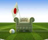 Japan soccer fun — Stock Photo