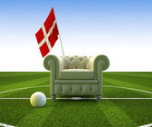 Denmark soccer fun — Stock Photo