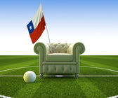 Chile soccer fun — Stock Photo