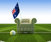 Australia soccer fun — Stock Photo