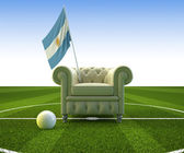 Argentina soccer fun — Stock Photo
