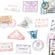 Visa stamp - Stock Photo