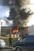 Fire on factory — Foto de Stock