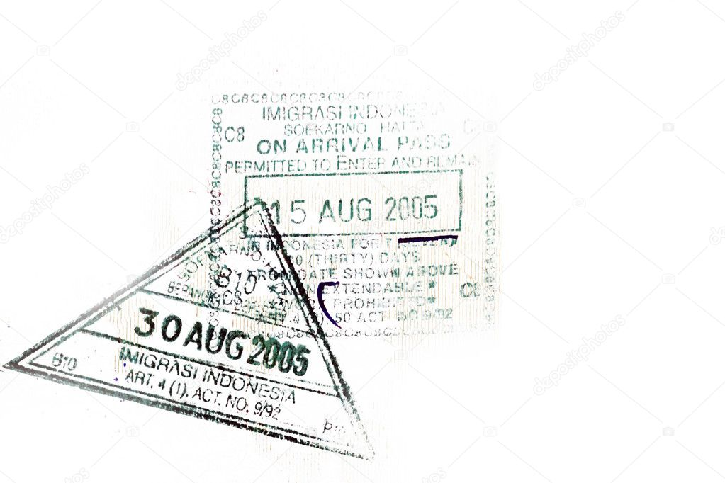 Visa stamp — Stock Photo #2005125
