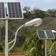 Foto de Stock  : Solar panel and light
