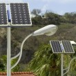 Stock Photo: Solar panel and light