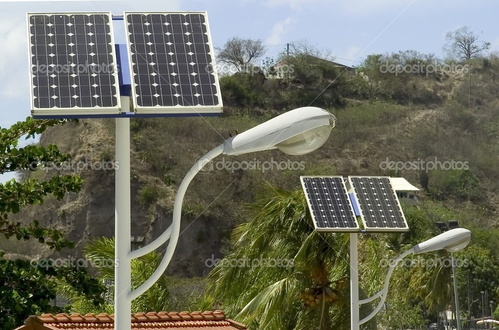 Solar panel and light — Stock Photo #1925994