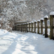 Snow in the countryside - Stockfoto
