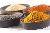 Färgade kryddor — Stockfoto