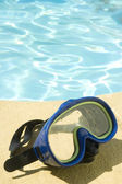 Nautic mask and pool — Stock Photo