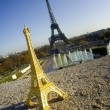Eiffel tower and miniature — Stok Fotoğraf #1981762