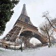 Eiffel tower with snow — Stock Photo #1982932