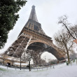 Royalty-Free Stock Photo: Eiffel tower with snow