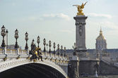Alexandre 3 bridge in Paris — Stok fotoğraf