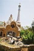 Paloma lavado en barcelona - parc guell — Foto de Stock