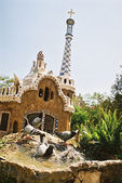 Pigeon washing in Barcelona - Parc Guell — ストック写真