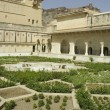 Amber fort's garden - Stock Photo