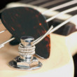 Stock Photo: Guitar Tuning Peg