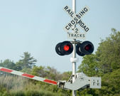 Railraod Crossing Signal — 图库照片