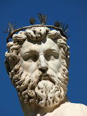 Florence - Statue of Neptune — Stock Photo