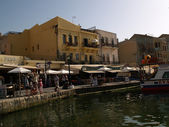 The old Venetian port of Chania — Stock Photo