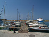 The picturesque marina at Chani — Stockfoto