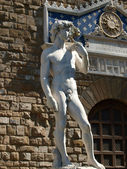 Florence - The statue of David — Stock Photo