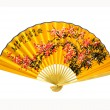 Stock Photo: Yellow Chinese fan