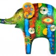 Colour figure of an elephant — Stock Photo