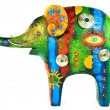 Stock Photo: Colour figure of elephant