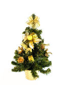 Christmas fur-tree with cones and gifts — Stockfoto