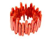 Coral bracelet — Stock Photo