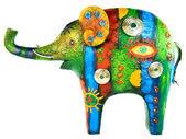 Colour figure of an elephant — Stock Photo