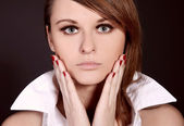Portrait of beautiful young model — Stock Photo