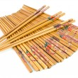 Bamboo chopsticks on white — Stock Photo