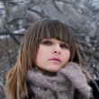 Stock Photo: Beautiful girl in winter park