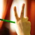 Writing hand — Stock Photo