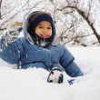Snow boy — Stock Photo