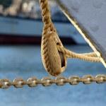 Sailing ship wooden detail — Stock Photo