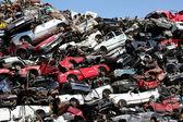 Cars junkyard — Stock Photo