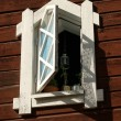 White wooden window — Stock Photo