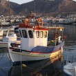 Stock Photo: Fishing boat in greek harbour