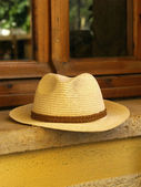 Straw man hat — Stock Photo