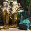 Stock Photo: Bottles with olive oil