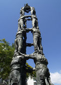 Human pyramid (Castells) - sculpture — Stock Photo