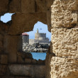 View on the fortress in Rhodes from the — Stock Photo