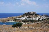 Lindos - Rhodes, Greece — Stock Photo
