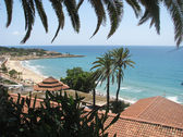 View to the bay and beach - Spain — Stock Photo
