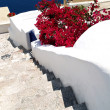 Stock Photo: Stair to sea, Santorini